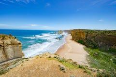 12 апостолов, Австралия, апостолы горной породы 12 Стоковое Фото