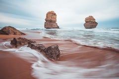 12 апостолов вдоль большой дороги океана, Виктории, Австралии Стоковое фото RF