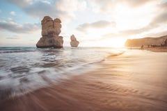 12 апостолов вдоль большой дороги океана, Виктории, Австралии Стоковое Изображение RF