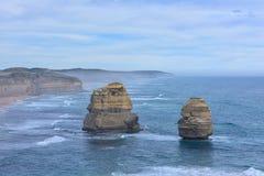 12 апостолов вдоль большой дороги океана Стоковая Фотография