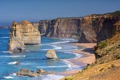 12 апостолов вдоль большой дороги океана Стоковое фото RF
