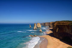 12 апостолов вдоль большой дороги океана Стоковое Изображение RF
