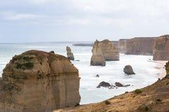 12 апостолов Monochrome, Виктория, Австралия Стоковые Изображения RF