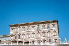 Апостольский дворец в Ватикане от квадрата стоковое фото