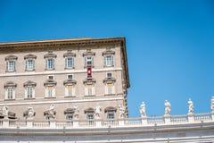 Апостольский дворец в Ватикане от квадрата стоковая фотография rf