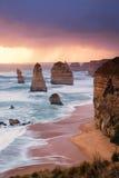 12 апостола на большой дороге океана Стоковые Фотографии RF