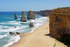 12 апостолов, большая дорога океана, Австралия Стоковые Фотографии RF