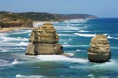 12 апостолов, большая дорога океана, Австралия Стоковая Фотография RF