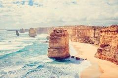 12 апостолов, большая дорога океана, Виктория, Австралия Стоковое фото RF