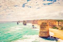 12 апостолов, большая дорога океана, Виктория, Австралия Стоковые Изображения RF