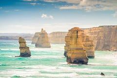 12 апостолов, большая дорога океана, Виктория, Австралия Стоковая Фотография RF