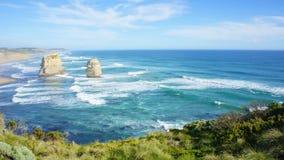 12 апостолов, большая дорога океана вдоль побережья Виктории, Australi Стоковое фото RF