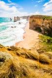12 апостолов, большая дорога океана, Мельбурн, Австралия Стоковое Изображение RF