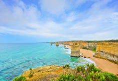 12 апостолов большой дорогой океана, Австралией Стоковое Изображение