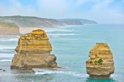 12 апостолов большой дорогой океана, Австралией Стоковые Фото