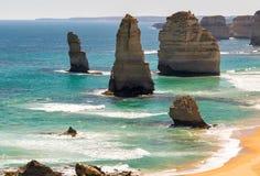 12 апостолов, Виктория - Австралия Взгляд береговой линии на s Стоковая Фотография