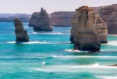 12 апостолов, Виктория - Австралия Взгляд береговой линии на s Стоковая Фотография RF