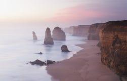 12 апостолов в Австралии на заходе солнца Стоковое фото RF