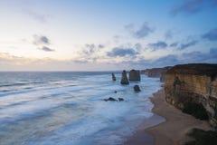 12 апостолов в Австралии на заходе солнца Стоковые Изображения RF