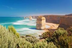 12 апостолов в Австралии, долгой выдержке Стоковые Изображения