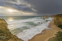 12 апостолов в большой дороге океана в Австралии Стоковые Изображения RF