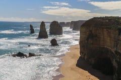12 апостолов в национальном парке campbell, Австралии Стоковое Изображение RF
