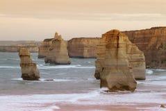 12 апостолов вдоль известной большой дороги океана Стоковые Фотографии RF