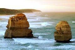 12 апостолов вдоль известной большой дороги океана Стоковые Фото
