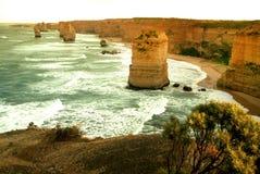 12 апостолов вдоль известной большой дороги океана Стоковые Изображения
