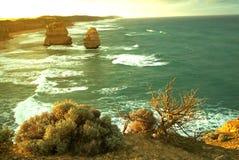 12 апостолов вдоль известной большой дороги океана Стоковое Фото