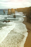 12 апостолов вдоль известной большой дороги океана Стоковое Изображение RF