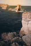 12 апостолов вдоль известной большой дороги океана Стоковая Фотография RF