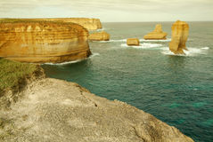 12 апостолов вдоль известной большой дороги океана Стоковое фото RF