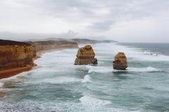 12 апостолов в туманной погоде восточной Стоковое Изображение