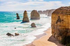 12 апостолов, Мельбурн, Австралия Стоковые Изображения RF