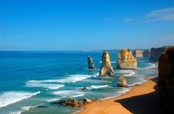 12 апостолов на большой дороге океана, Австралии. Стоковая Фотография RF