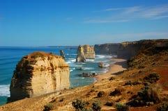 12 апостолов на большой дороге океана, Австралии. Стоковые Фотографии RF