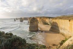 12 апостолов на большой дороге океана, Австралии Стоковая Фотография RF