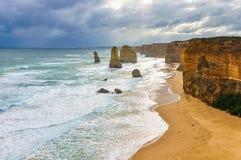 12 апостолов на большой дороге океана, Австралии Стоковое Фото