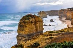12 апостолов на большой дороге океана, Австралии Стоковые Фотографии RF