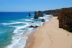 12 утесов моря апостолов Стоковые Изображения RF