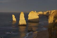12 апостолов на восходе солнца Стоковые Изображения