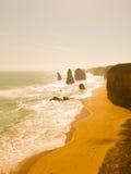 12 апостолов на заходе солнца в Австралии Стоковые Изображения