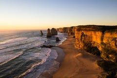 12 апостолов на заходе солнца Стоковое Изображение RF