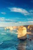 12 апостолов на зоре, Австралия Стоковые Фотографии RF