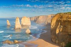 12 апостолов на зоре, Австралия Стоковое Фото