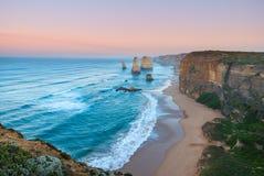 12 апостолов на зоре Стоковое Изображение