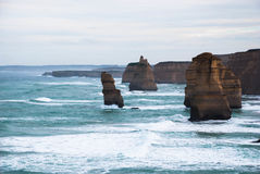 12 апостолов, туристическая достопримечательность, достопримечательность, Виктория, Австралия Стоковая Фотография RF