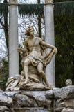Аполлон. Орнаментальные фонтаны дворца Аранхуэса, Мадрид, стоковые изображения rf
