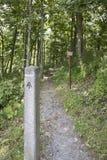 Аппалачская отметка следа в национальном парке Shenandoah Стоковые Изображения